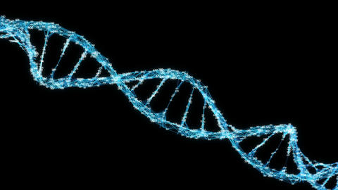 Digital Plexus DNA molecule random digits Loop Alpha Channel Animation