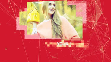 Plexus Connections Slideshow After Effects Template