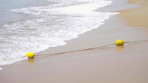 Waves on a sandy beach Image