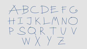 Hand Drawn Alphabet After Effects Template