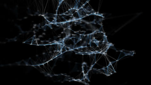 Abstract Motion Digital Polygon Random Digits Plexus Data Networks Alpha Matte Animation