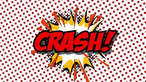 CRASH - word speech balloons comic style animation Animation