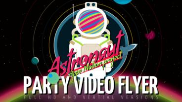 DPRED - ASTRONAUT Flyer Plantilla de Apple Motion