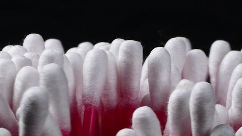 Close-up a bunch of cotton buds Live Action
