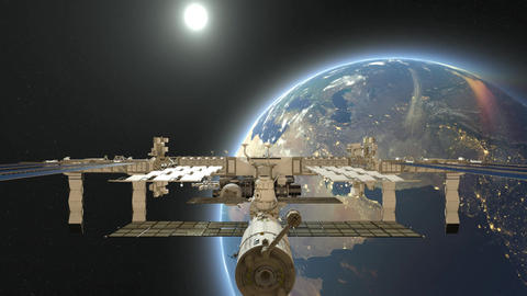 Space station CG動画