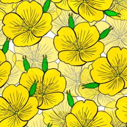 seamless pattern of yellow flowers Vector