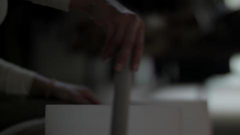 Woman performs a sound bath Footage