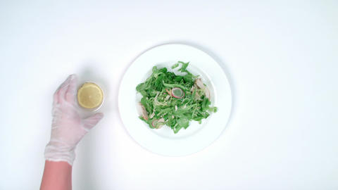 Chef making Salad Footage