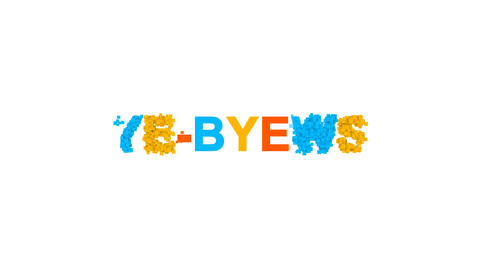 common expression BYE-BYE! from letters of different…, Stock Animation