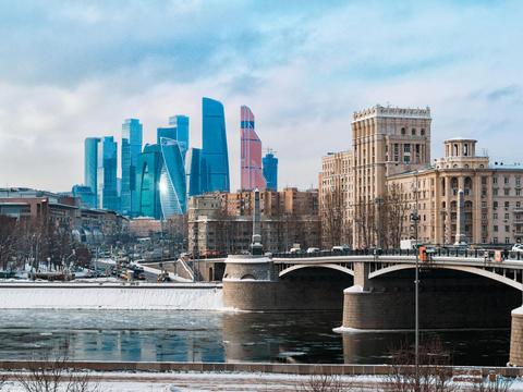 Moscow architecture, modern city skyscrapers Fotografía