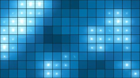Mosaic Light Show Blue - 4k Illuminated Pixel Grid Video…, Stock Animation
