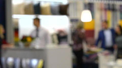 Abstract Defocused Blurred Background flow of men businessmen Footage