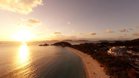 Aharen Beach on Tokashikijima evening view ビデオ