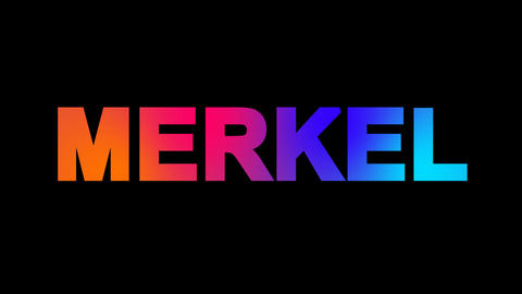 Person of the World Politics MERKEL multi-colored appear then disappear under Animation