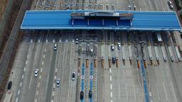 Busan Highway Tollgate Footage