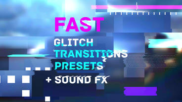 Fast Glitch Transitions Presets Premiere Proテンプレート