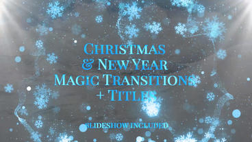 Christmas & New Year Magic Transitions and Titles Premiere Proテンプレート