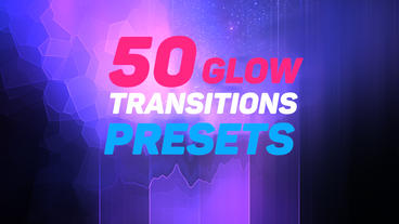 50 Glow Transitions Presets Premiere Proテンプレート