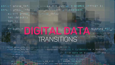 Digital Data Transitions Premiere Pro Template