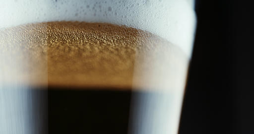 Beer is poured in glass Footage