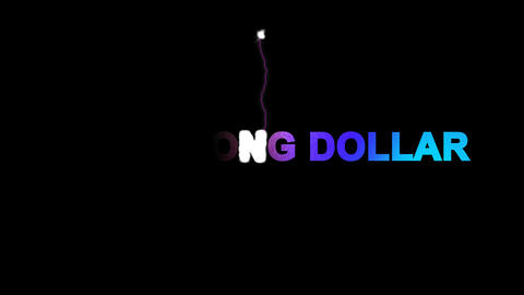 Currency name HONG KONG DOLLAR multi-colored appear then…, Stock Animation