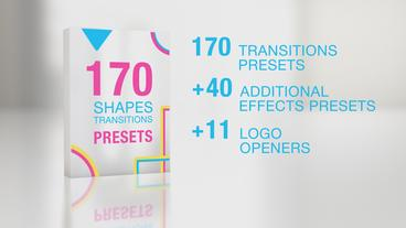 170 Shapes Transitions Presets ME Premiere Proテンプレート