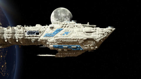 Space ship 動画素材, ムービー映像素材