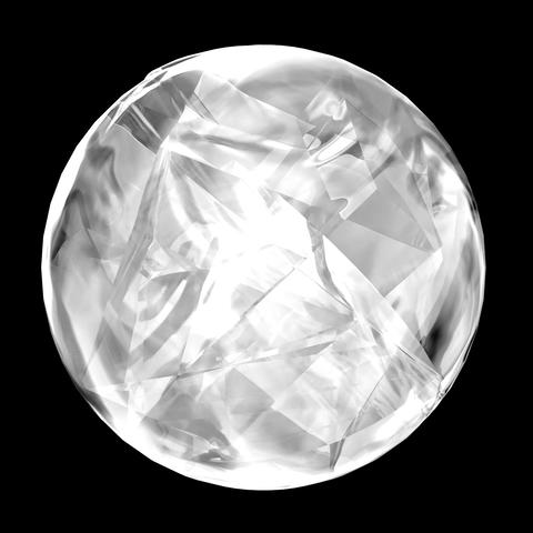 回転する氷の球 CG動画素材