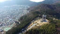 Chunghontap Pagoda in Central Park Busan South Korea Asia 11 Footage