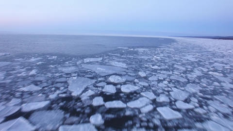 Ice Floes on the North Atlantic Footage
