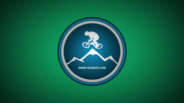 Mountain Bike Logo After Effects templates