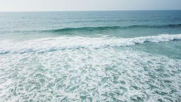 Aerial Drone View Of Ocean Waves Crushing In Slow Motion GIF