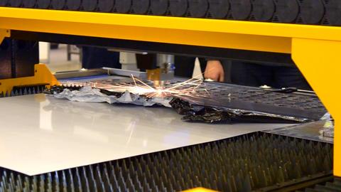 Fiber laser machines for metal cutting Footage