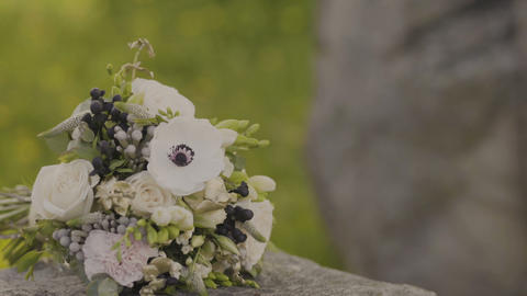 Bouquet of fresh roses. Festive bouquet of fresh flowers. Wedding bridal bouquet Footage