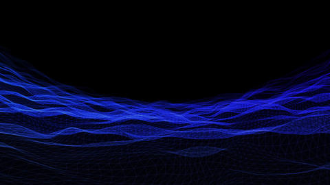 Wave wireframe02 Animation