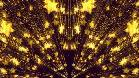 Shimmer Gold Animated Sparkles Star Glitter Elegant Background Animation