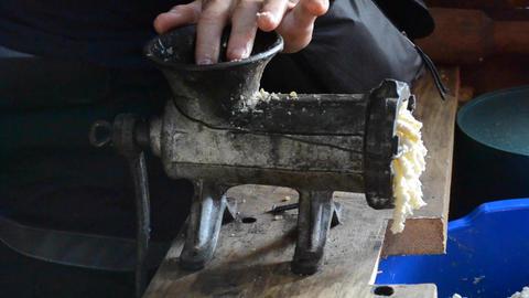 cheese feta bryndza creation Footage