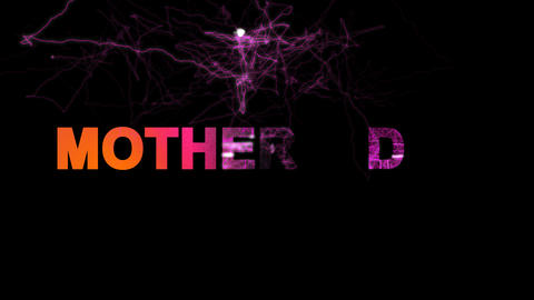 celebration MOTHER'S DAY multi-colored appear then disappear under the lightning Animation