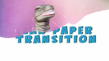 Tear Paper Transition After Effects Template