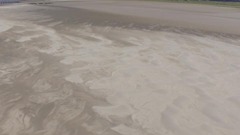 A Short Aerial Shot of the Sand Patterns Footage