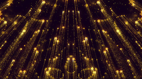 Stars Flickering Beautiful Animated Background Golden Particles Animation