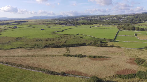 Aerial Shot of the North Wales Hills Footage