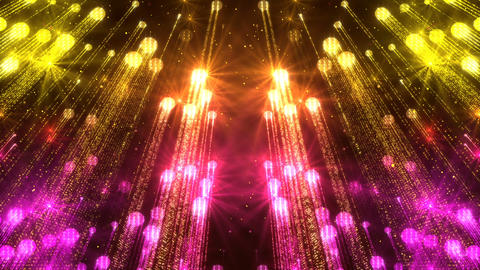 Wall Beautiful Background Animated Golden Flickering Particles Animation