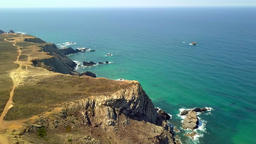 Bright landscape of tropical shoreline Footage