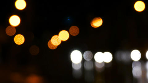 Abstract car lights. Beautiful bokeh Footage