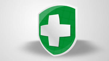 Medical Cross Logo Reveal stock footage