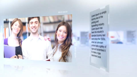 Modern Glass Corporate Slideshow After Effects Template