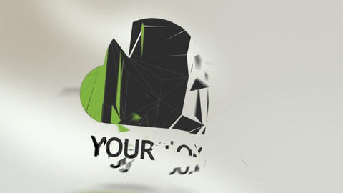 Natural Shattered Logo Intro After Effects Template