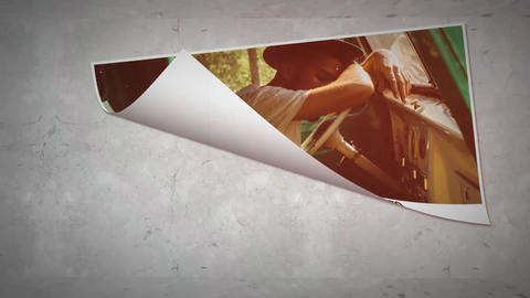 Simple & Clean Paper Slideshow After Effects Template