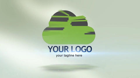 Simple Sliced Logo After Effects Template